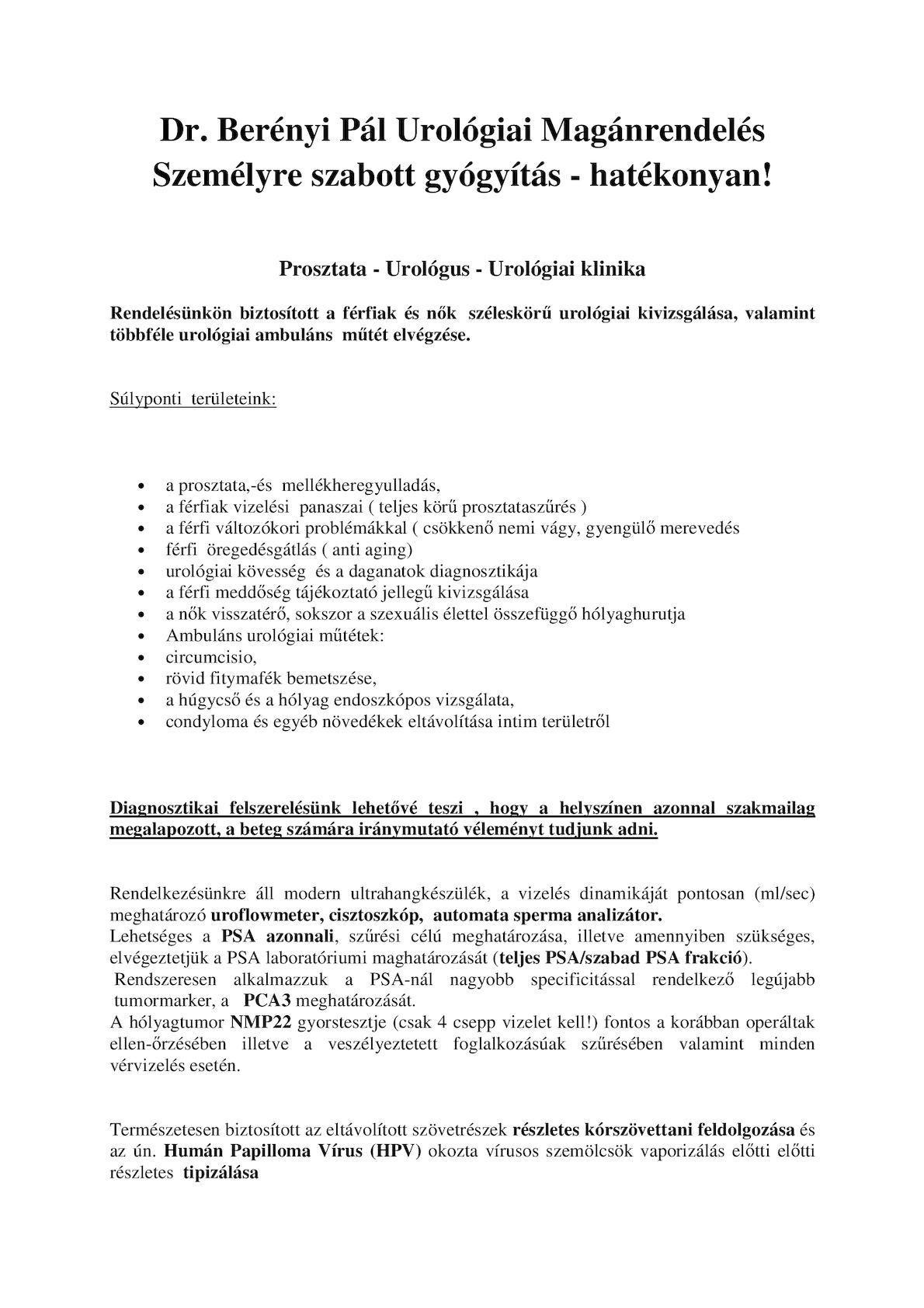 Papilloma vírus ambuláns beavatkozása - Gyermekvállalás?