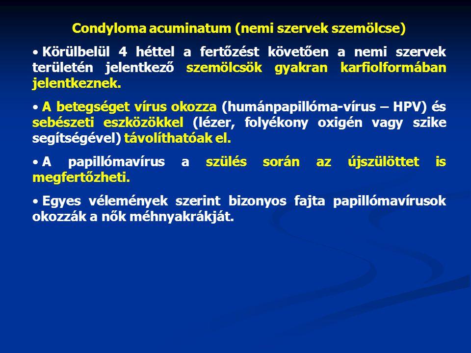 papillomavírus kondilómák
